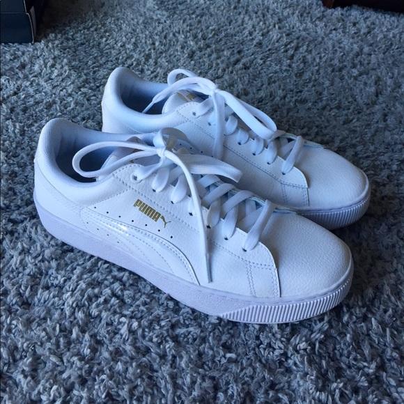 4191792b0562ca Brand new white puma shoes. M 5aa46a2a72ea886455df51b4